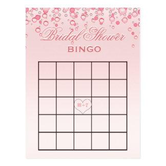 El rosa nupcial del bingo el | de la ducha se postal