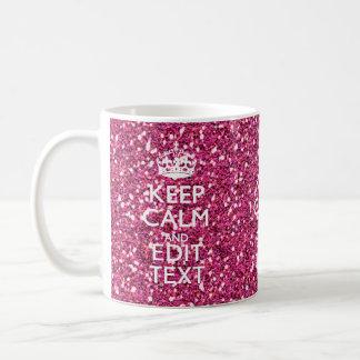 El rosa personalizado guarda la decoración taza