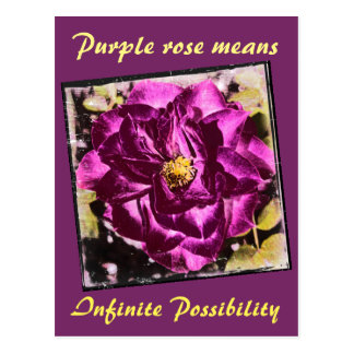 El rosa púrpura significa la postal infinita de la