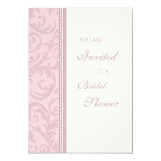 El rosa remolina las tarjetas nupciales de la invitación 12,7 x 17,8 cm