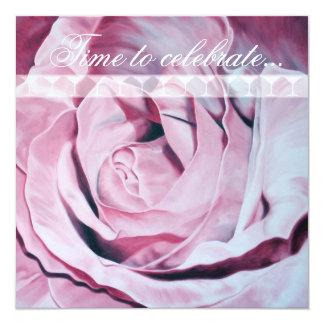El rosa rosado celebra a Bachelorette que el Invitación 13,3 Cm X 13,3cm