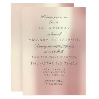 El rosa rosado del Minimalism se ruboriza Invitación 11,4 X 15,8 Cm