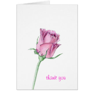 El rosa rosado le agradece cardar tarjeton