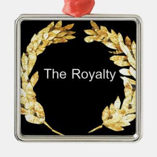 El Royalty.png Adorno Navideño Cuadrado De Metal