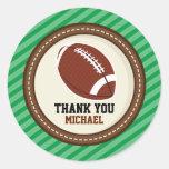 El rugbi del fútbol de Superbowl le agradece Pegatina Redonda