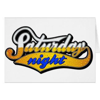 El sábado por la noche cerveza tarjeta