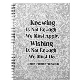 El saber no es bastante - Quote´s positivo Cuaderno