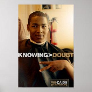El saber > poster de la barbería de la duda