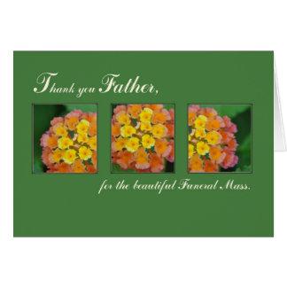El sacerdote le agradece engendrar, masa fúnebre tarjeta de felicitación
