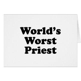 El sacerdote peor del mundo tarjeta de felicitación