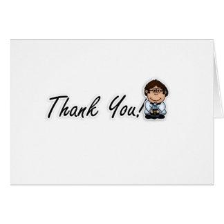 El sacerdote, vicario, pastor le agradece cardar tarjeta de felicitación