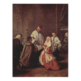 El sacramento de la boda de Pietro Longhi Postales
