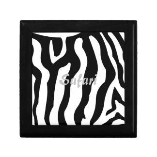 El safari, caballo de la cebra raya negro y blanco caja de regalo