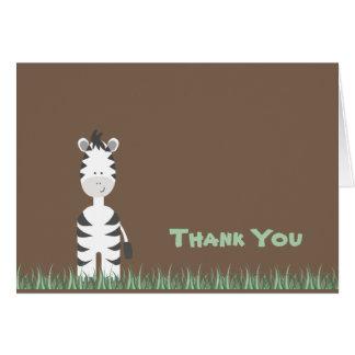 El safari de la cebra le agradece observar tarjetón