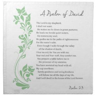 El salmo de David el señor es mi verso de la Servilleta De Tela