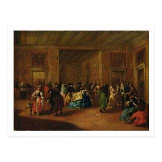 El salón (bosquejo) postal