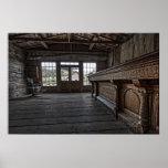 El salón de Skinner -- Pueblo fantasma Montana de Póster