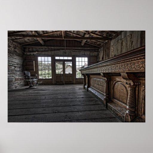 El salón de Skinner -- Pueblo fantasma Montana de  Impresiones