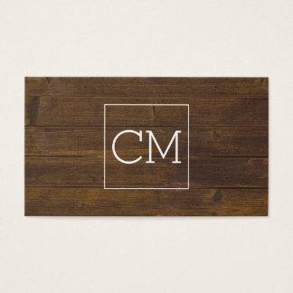 El salón esquila la tarjeta de madera de la cita
