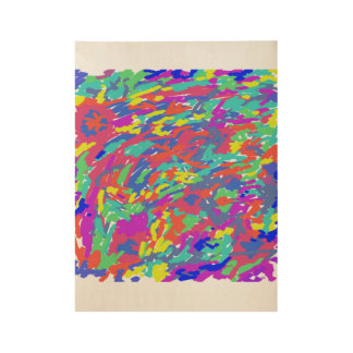 """El """"salpicar de años 80"""" resume la pintura de póster de madera"""