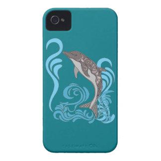 El salpicar del delfín carcasa para iPhone 4