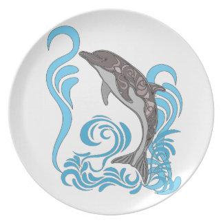 El salpicar del delfín plato