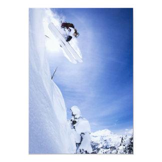 El salto del esquiador invitación 12,7 x 17,8 cm
