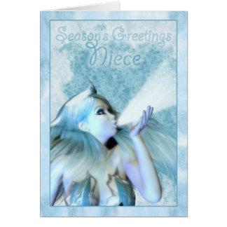 El saludo de la estación de la sobrina, la tarjeta de felicitación