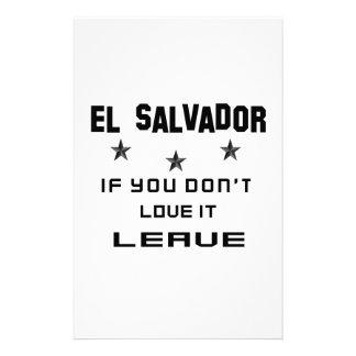El Salvador si usted no lo ama, se va Papeleria