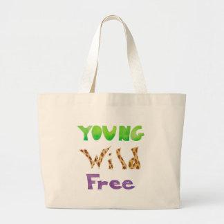 El ~ salvaje del ~ joven libera bolsa tela grande