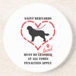 El santo Bernards debe ser amado Posavasos Personalizados