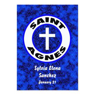 El santo Inés invita Invitacion Personalizada