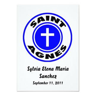 El santo Inés invita Invitación 12,7 X 17,8 Cm