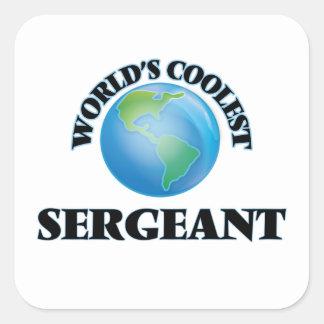 El sargento más fresco del mundo pegatinas cuadradases personalizadas