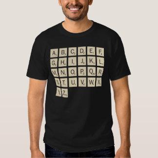 El Scrabble personalizado coloreado de los hombres Camiseta