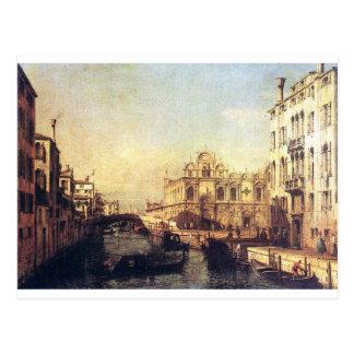 El Scuola de San Marco de Bernardo Bellotto Postal