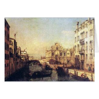 El Scuola de San Marco de Bernardo Bellotto Tarjeta De Felicitación