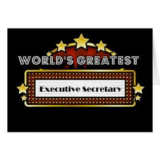 El secretario ejecutivo más grande del mundo tarjeta de felicitación