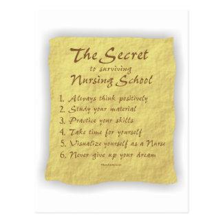El secreto a la escuela de enfermería de la superv postal