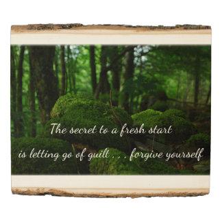 El secreto a un nuevo comienzo panel de madera