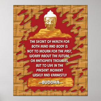 el secreto de Buda de la salud Poster