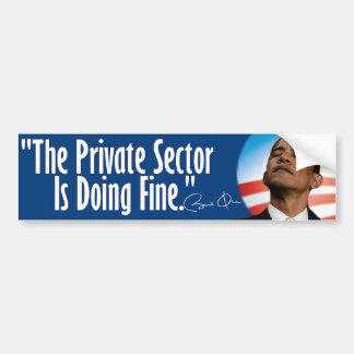 El sector privado está haciendo muy bien pegatina para coche