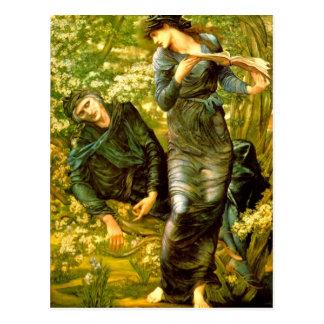 El seducir de la pintura 1874 de Burne-Jones del ~ Postal