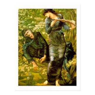 El seducir de MERLIN - Edward Burne-Jones Postal