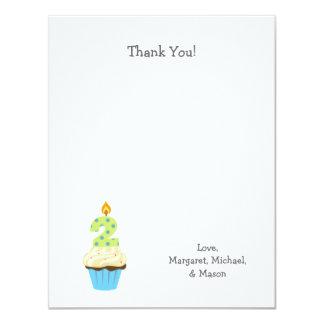El segundo cumpleaños de Bou le agradece magdalena Invitación 10,8 X 13,9 Cm