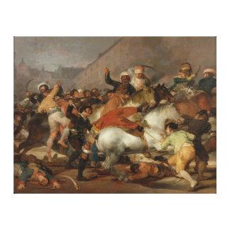 El segundo de mayo de 1808 la carga del Mamelukes Impresión De Lienzo