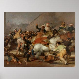 El segundo de mayo de 1808 la carga del Mamelukes Posters