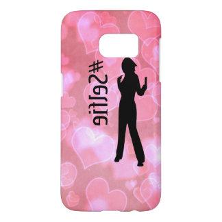 El #Selfie rosado Samsung de los corazones Funda Samsung Galaxy S7