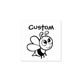 El sello adaptable del profesor - abeja del dibujo