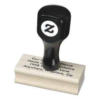 El sello de goma de madera del arte crea sus los